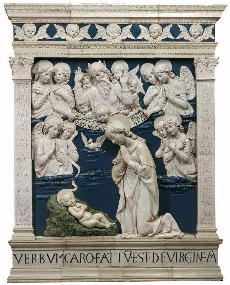 Andrea della Robbia Glazed terracottas in La Verna Sanctuary