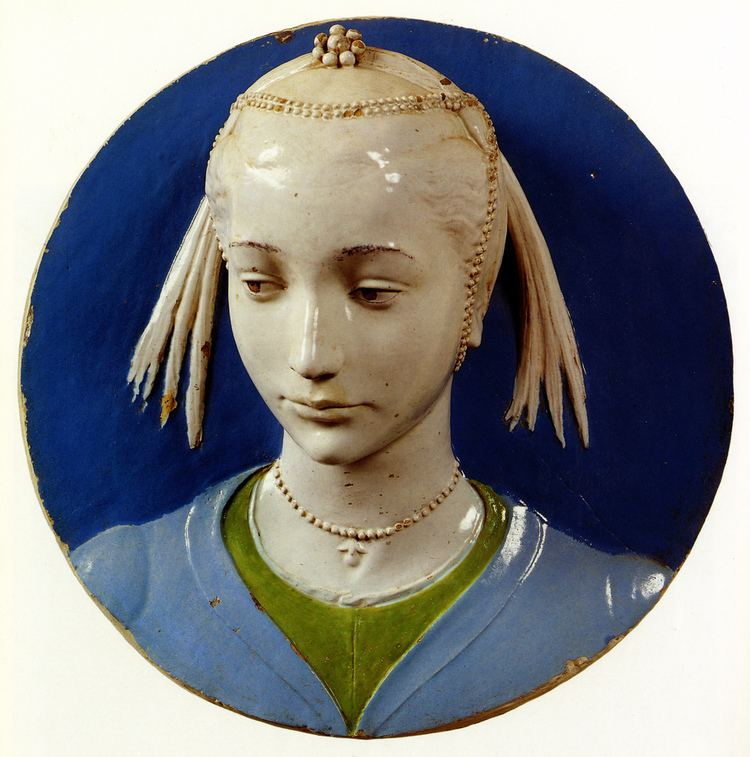 Andrea della Robbia Andrea della Robbia Ritratto di giovane gentildonna 1465