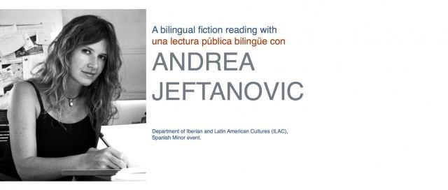 Andrea Jeftanovic A Bilingual Fiction reading with Andrea Jeftanovic DIVISION OF