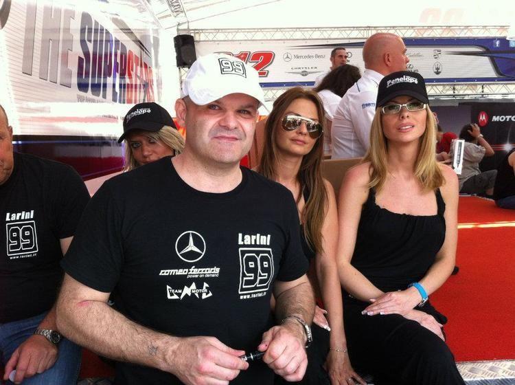 Andrea Larini Superstars Andrea Larini con AUDI a Vallelunga Mercedes perde