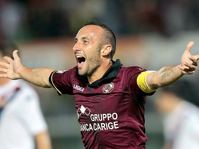 Andrea Luci Livorno39s Andrea Luci celebrates after scoring the opening