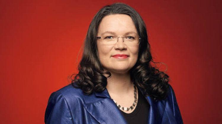 Andrea Nahles SPD Generalsekretrin Andrea Nahles erheitert Bundestag