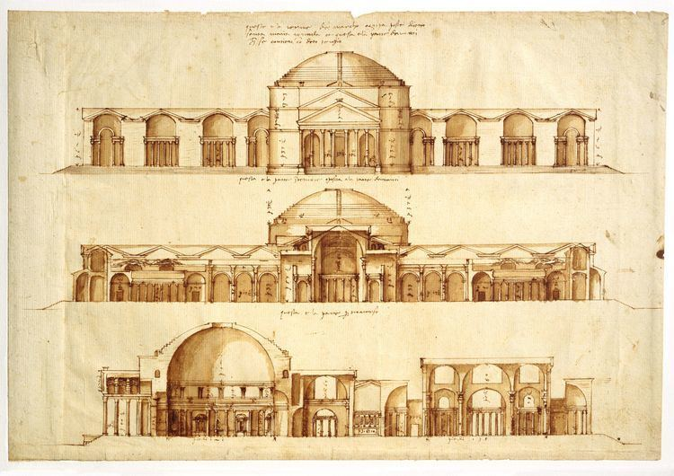 Andrea Palladio Conjectural reconstruction of the Baths of Agrippa Andrea Palladio