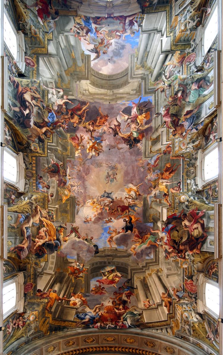 Andrea Pozzo A 300yearold fresco by Andrea Pozzo The entire ceiling