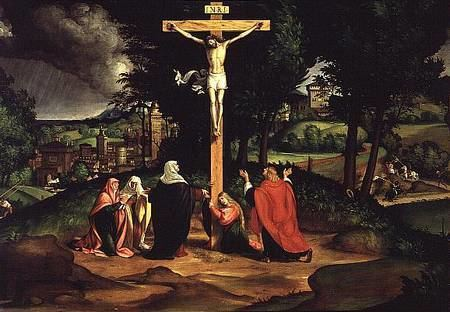 Andrea Previtali The Crucifixion Andrea Previtali as art print or hand