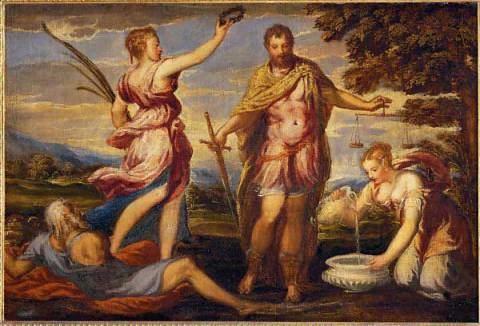 Andrea Schiavone Andrea Schiavone Darstellung aus der antiken Sage