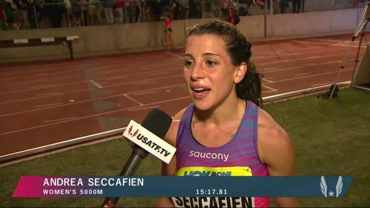 Andrea Seccafien AthleticsCanadaTV Videos Andrea Seccafien Women39s 5000m Section