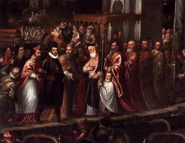 Andrea Vicentino FileAndrea Vicentino The Doge and the Patriarch Welcoming Henri