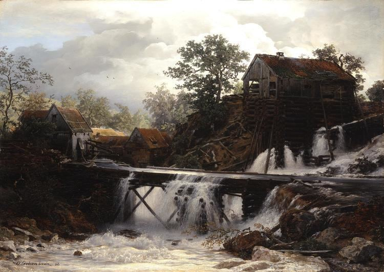 Andreas Achenbach Andreas Achenbach 1815 1910 A timbermill in Westphalia