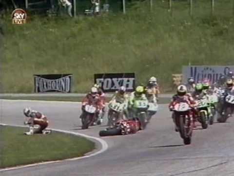 Andreas Meklau WSBK 1995 Salzburgring Race 2 Andreas Meklau Crash YouTube