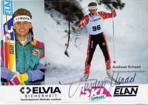 Andreas Schaad Calgary 1994 Lillehammer Nordic Combined Medalist ANDREAS SCHAAD