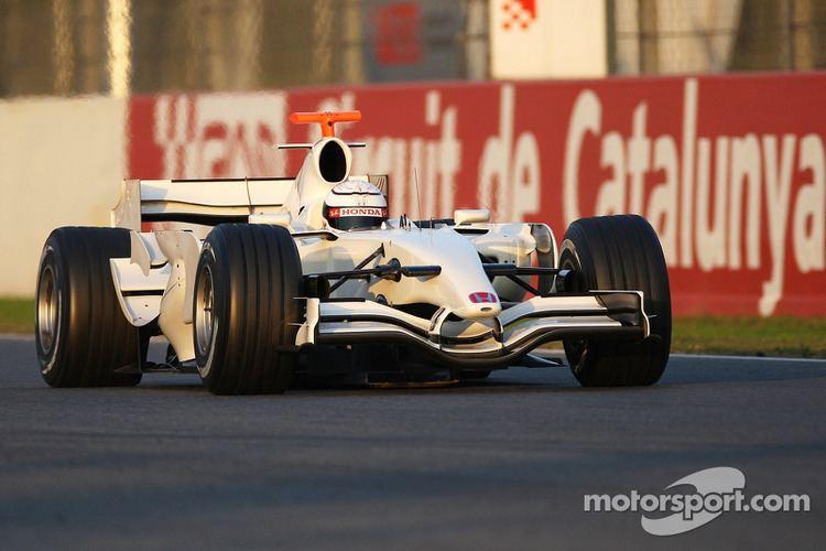 Andreas Zuber Andreas Zuber Test Driver Honda Racing F1 Team RA107 at Barcelona