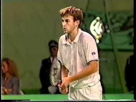Andrei Chesnokov Andrei Chesnokov vs J McEnroe Final Antwerp 1988 03