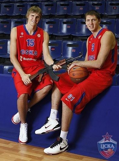 Andrei Kirilenko AK47 Signs with Russian Team Poses with AK47 Picture Larry