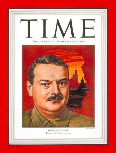 Andrei Zhdanov TIME Magazine Cover Andrei A Zhdanov Dec 9 1946