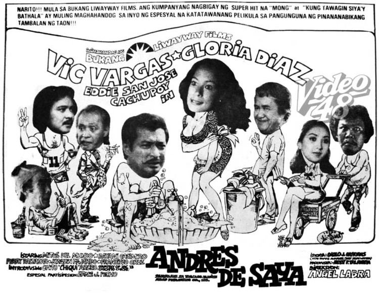 Andres de Saya spindle VIC VARGAS AND GLORIA DIAZ IN quotANDRES DE SAYAquot TRILOGY