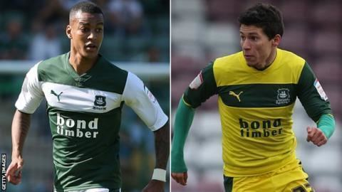 Andres Gurrieri Plymouth Argyle Durrell Berry and Andres Gurrieri released BBC Sport