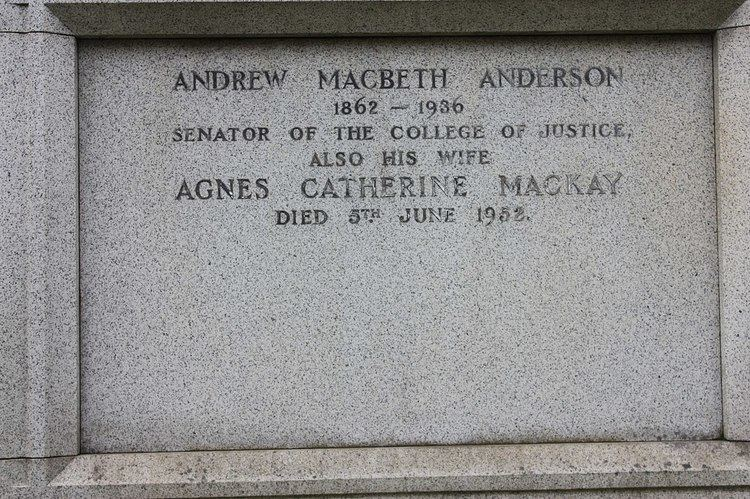 Andrew Anderson, Lord Anderson