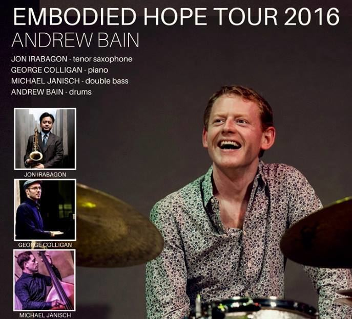 Andrew Bain (drummer) LondonJazz INTERVIEW Andrew Bain Embodied Hope tour with Jon