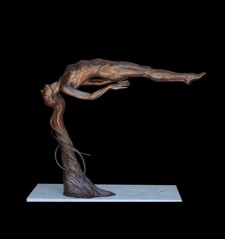 Andrew DeVries Innocence Andrew DeVries Figurative Bronze Sculpture Pastels
