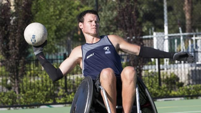 Andrew Edmondson Wheelchair rugby athlete39s road to Rio News Local