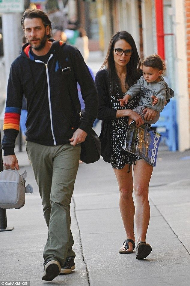 Andrew Form Jordana Brewster with son Julian as she enjoys dinner with
