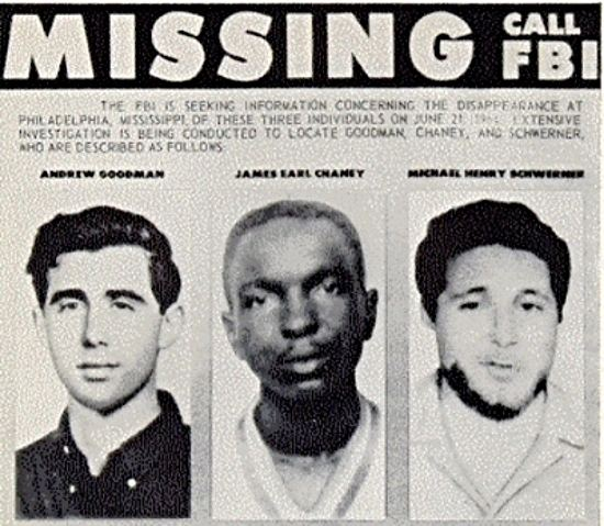 Andrew Goodman They died so we could vote James Chaney Michael