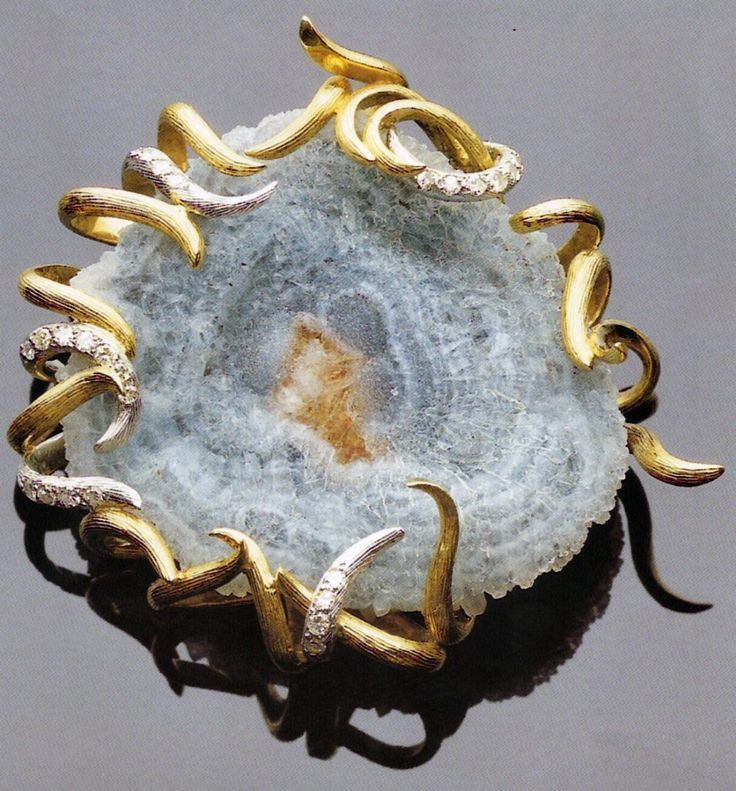 Andrew Grima Grima jewelry on Pinterest Agates Diamond Brooch and