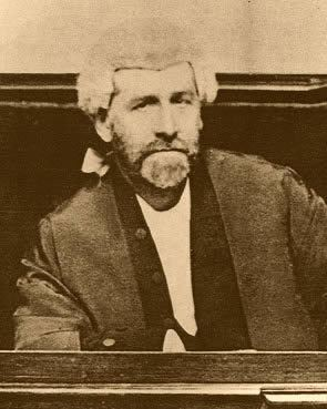 Andrew Inglis Clark Photograph of Andrew Inglis Clark sitting in the Supreme Court