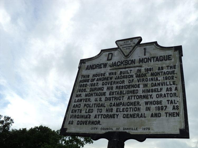 Andrew Jackson Montague FileAndrew Jackson Montague state historical marker Danville