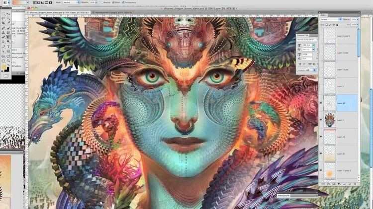 Andrew Jones (artist) Dharma Dragon Android Jones Boom Festival 2012 YouTube