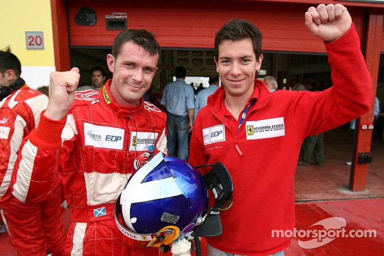 Andrew Kirkaldy (racing driver) GT2 pole winners Nathan Kinch and Andrew Kirkaldy celebrate at Mugello