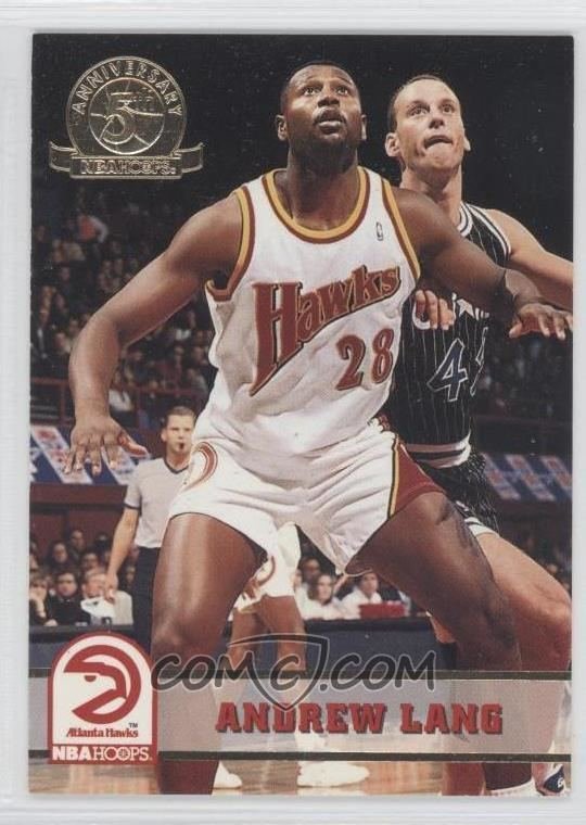 Andrew Lang (basketball) 199394 NBA Hoops Base 5th Anniversary 303 Andrew Lang