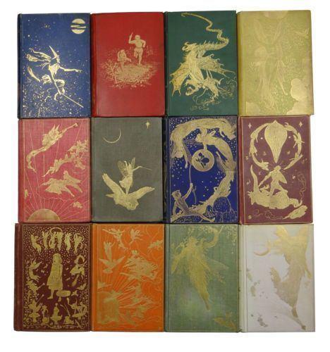 Andrew Lang's Fairy Books FirstEditionSetofFairyBooksANDREWLANGRedBlueGreenViolet