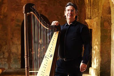 Andrew Lawrence-King Yale Arts Calendar Concert Baroque harp virtuoso Andrew