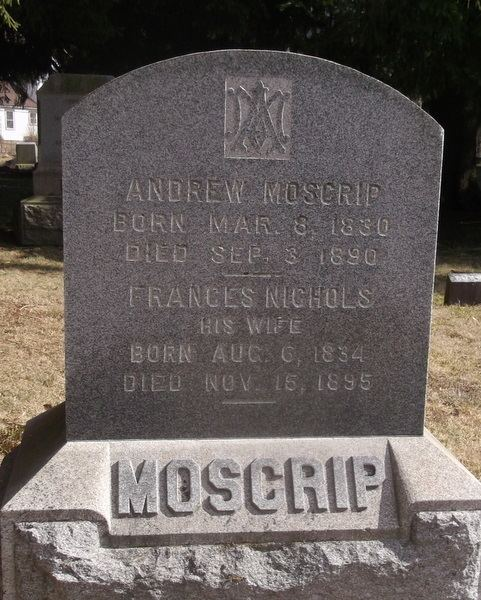Andrew Moscrip Andrew Moscrip 1830 1890 Find A Grave Memorial