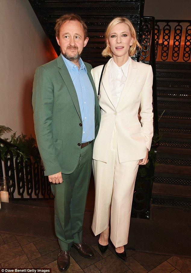 Andrew Upton Cate Blanchett keeps it chic in white trouser suit at Old Vic Summer