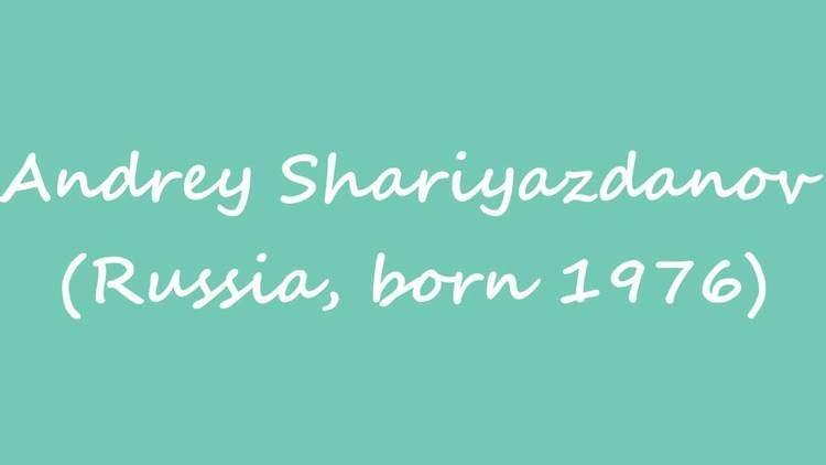 Andrey Shariyazdanov OBM Chess Player Andrey Shariyazdanov Russia born 1976 YouTube