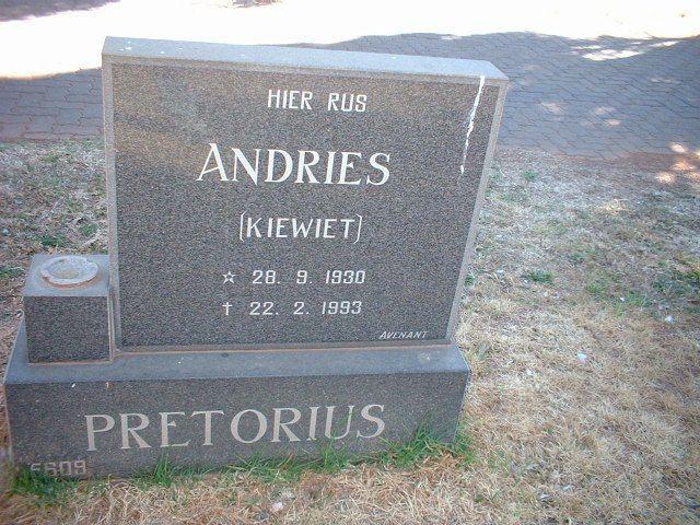 Andries Pretorius Die Pretoriusfamilie webblad