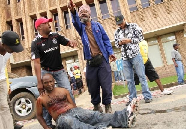 Andries Tatane Bulawayo24 NEWS Protester beaten and shot to death