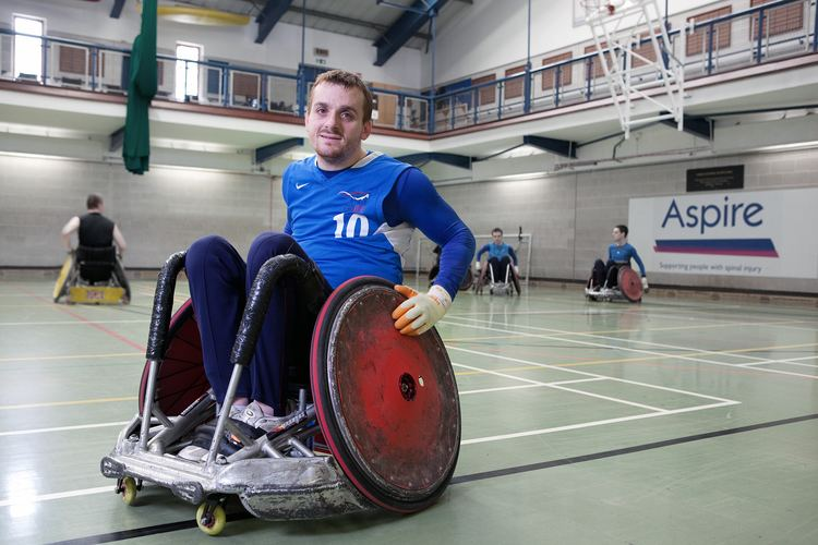 Andy Barrow Andy BarrowGB Wheelchair Rugby Team Portrait PhotographerLondon
