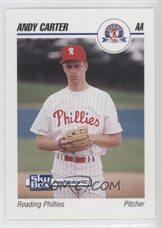 Andy Carter (baseball) 1992 SkyBox PreRookie Reading Phillies 529 Andy Carter COMC