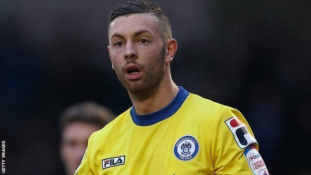 Andy Haworth BBC Sport Andy Haworth Barrow sign Cheltenham Town winger