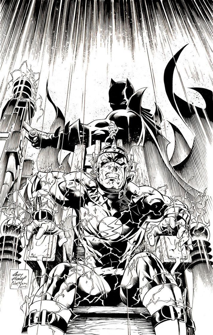 Andy Kubert Inks Flashpoint 2 Cover by Andy Kubert by adrben on