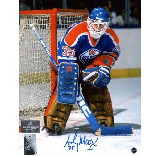 Andy Moog Moog Signed Edmonton Oilers 8X10 Photo
