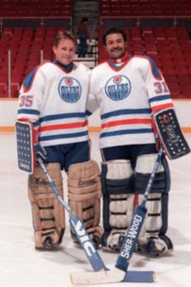 Andy Moog Andy Moog Grant Fuhr NHL Goalies 1980s Pinterest Hockey