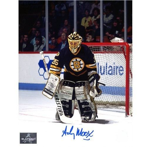 Andy Moog Moog Autograph Boston Bruins 8X10 Goalie Photo