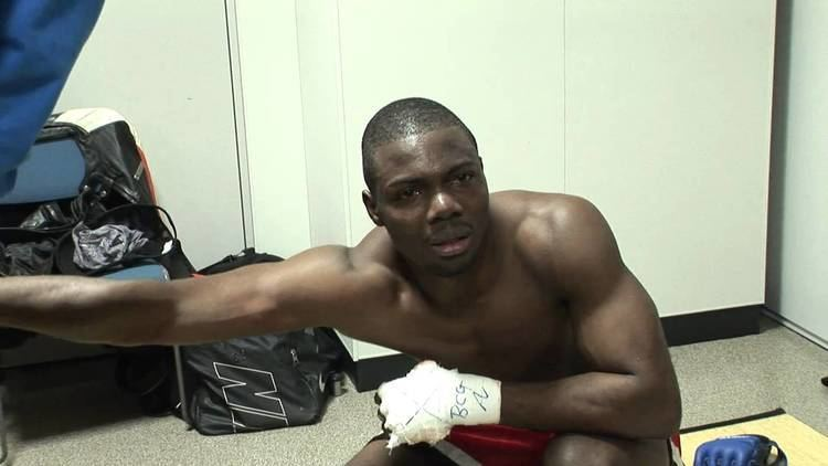 Andy Ologun Andy backstage after Furuki fight Dynamite YouTube