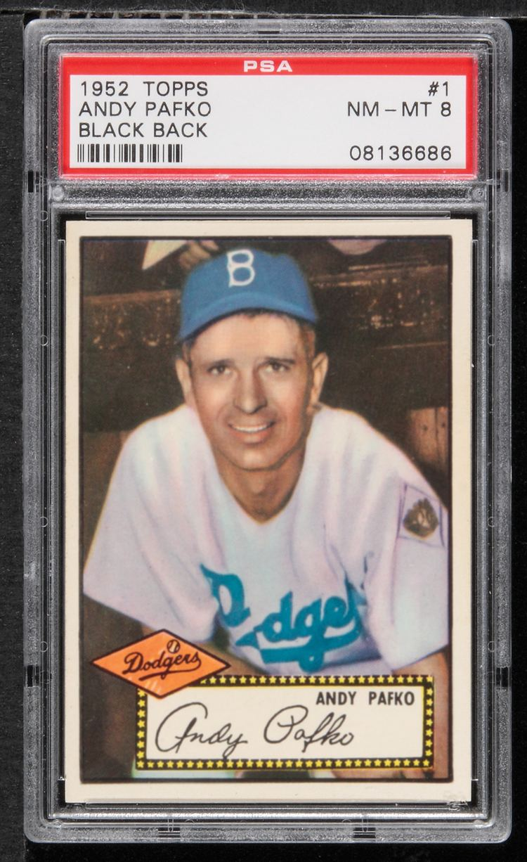 Andy Pafko Lot Detail 1952 Topps Andy Pafko Black Back 1 PSA 8 NMMT
