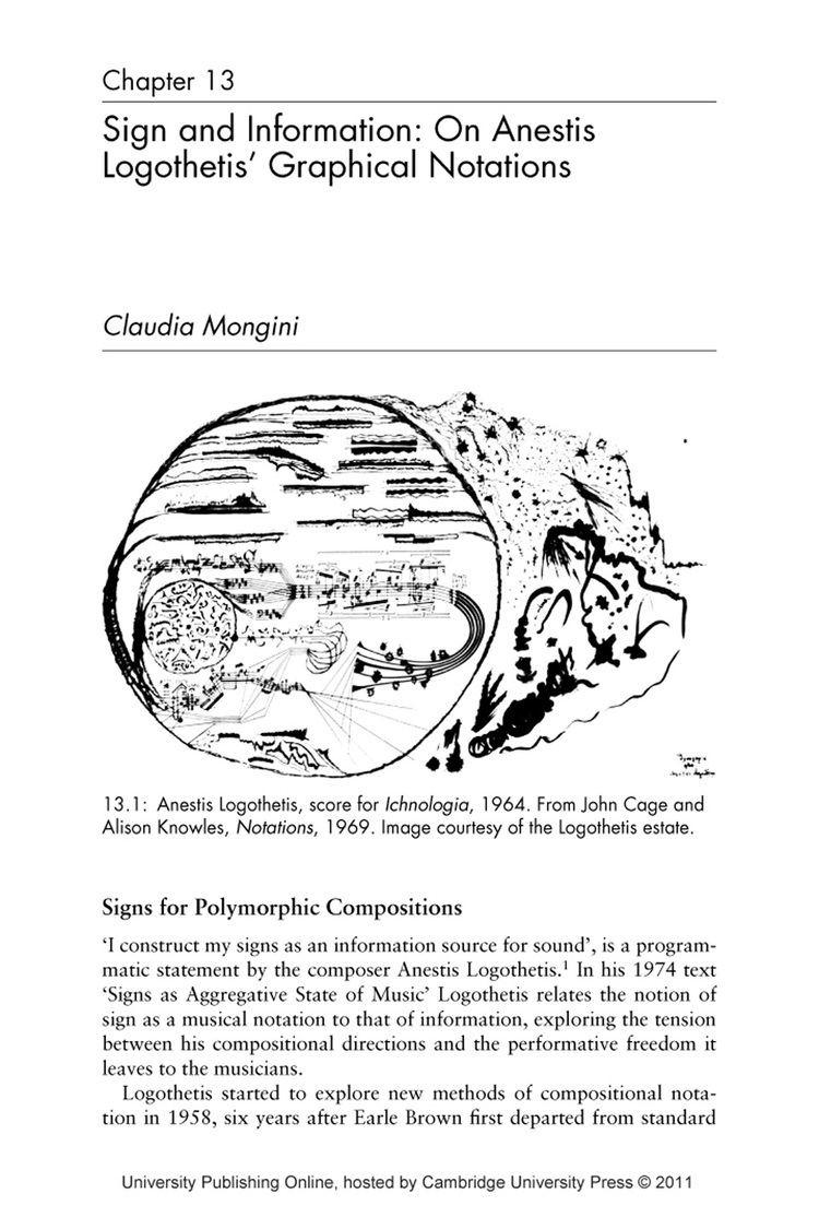 Anestis Logothetis 13 Sign and Information On Anestis Logothetis